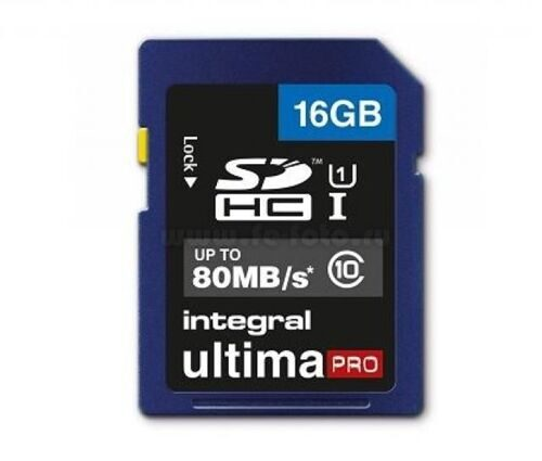 Integral 16GB Ultima Pro SDHC UHS-1 Class 10 80MB/S